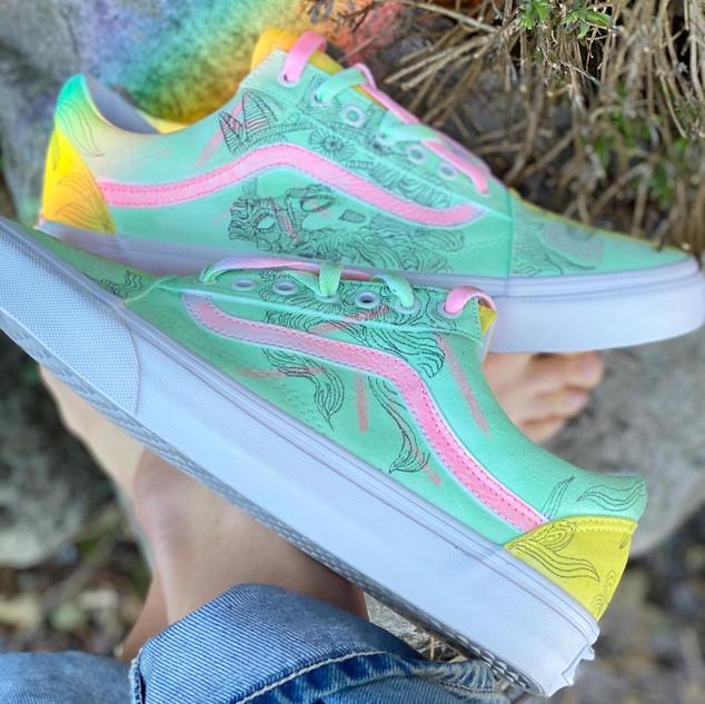 Custom sneakers - Poseidon