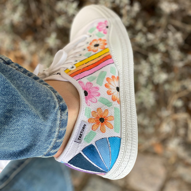 Custom sneakers - Hanna blommor