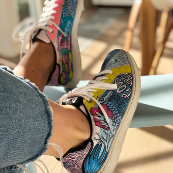 Custom sneakers Doodling miljöbild