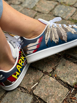 Custom sneakers - Harkey profil in o ut tillsammans