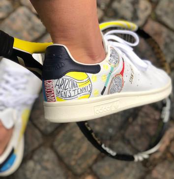 Custom sneakers Serve it smash it win it - Arizona men's tennis