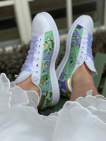 Custom sneaker - Will you marry me profil lila