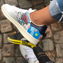Custom sneaker Serve it smash it win it - Smash with passion