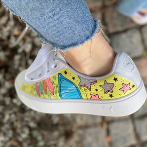 Custom sneakers - Hej Mallis solglasögon