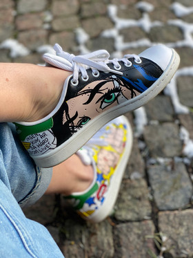 Custom sneakers - Wonder woman ögon