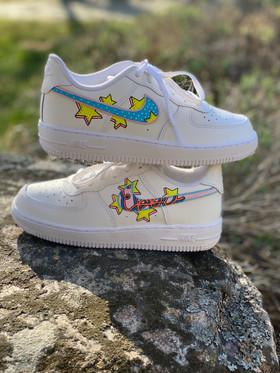 Custom sneakers - Bästisar Ebba staplade