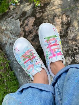 Custom sneakers - Midsommarnattsdröm tår