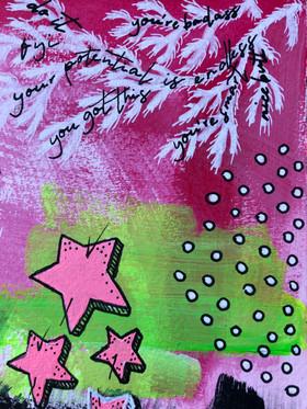 Akryltavla på papper Practise reckless optimism Stars