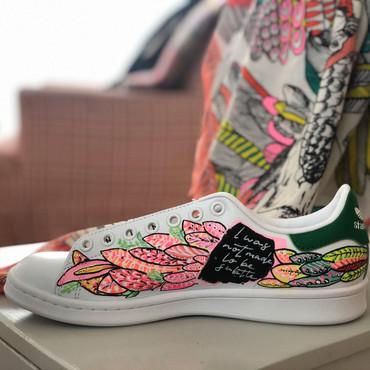 Custom sneaker Leaf mania med sjal