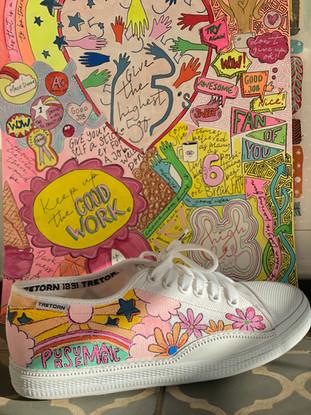 Custom sneaker - Reach for the stars PM med tavla
