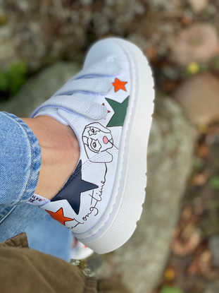 Custom sneakers - Alice the daschund love you long