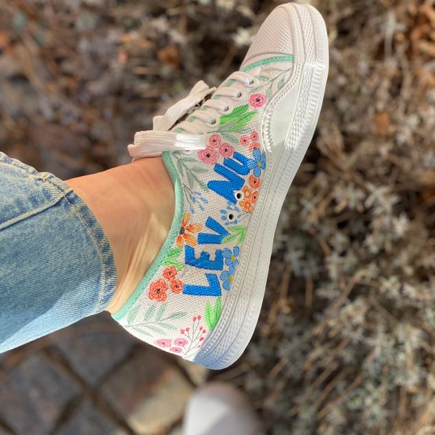 Custom sneakers - Tea Lev nu