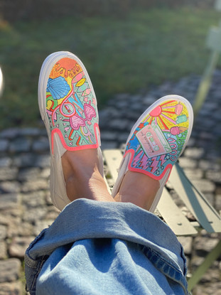 Custom sneaker - Good vibes only med solen