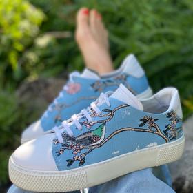 Custom sneakers - Birds & blues