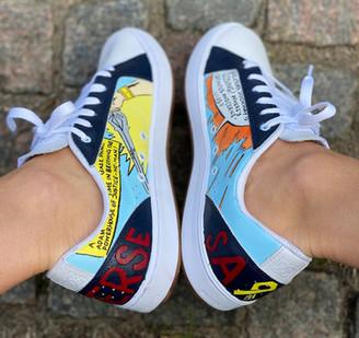 Custom sneakers - He-Man comics insidor