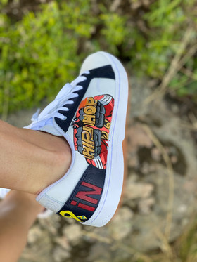 Custom sneakers - He-Man hip hop höger