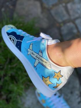 Custom sneakers - För evigt brudgum flygplan