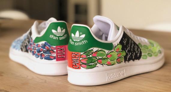 Custom sneaker Fuck cancer Botaniska serien