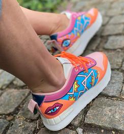 Custom sneakers - Stay rad profil höger