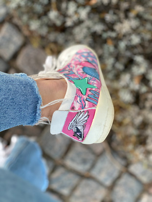 Custom sneaker Perfectly imperfect sko med vingar