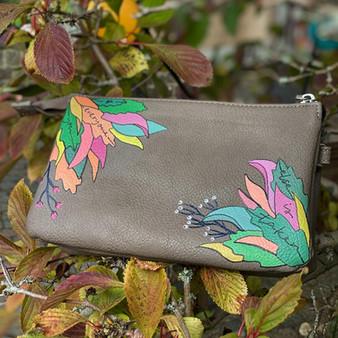 Handmålad personlig väska - Autumn leaves