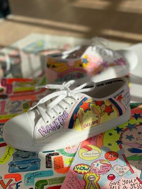Custom sneaker - Reach for the stars Porträtt Reach