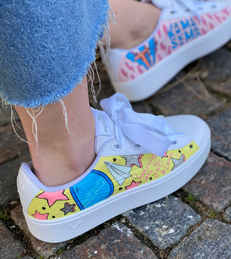 Custom sneakers - Hej Mallis Profil