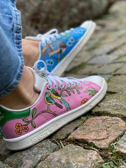 Custom sneakers - Chinoiserie profil höger