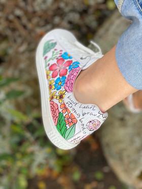 Custom sneakers - Sommaräng vä utsida