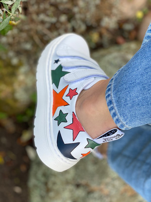 Custom sneakers - Alice the daschund stjärna