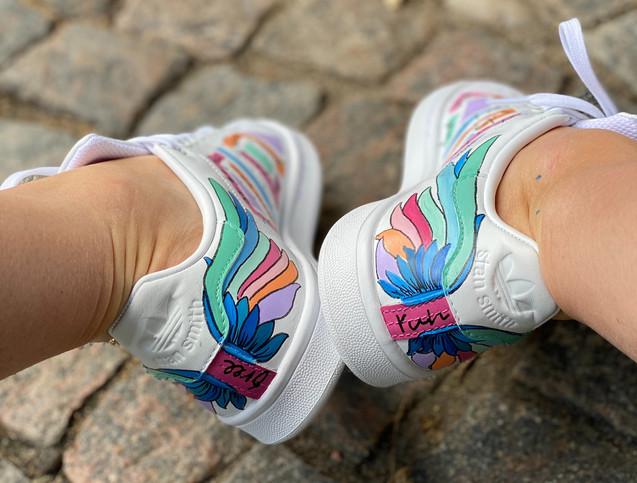 Custom sneakers - City of angels hälar