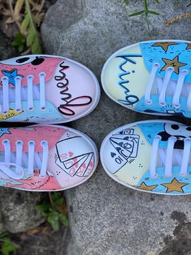 Custom sneakers - För evigt brud och brudgum