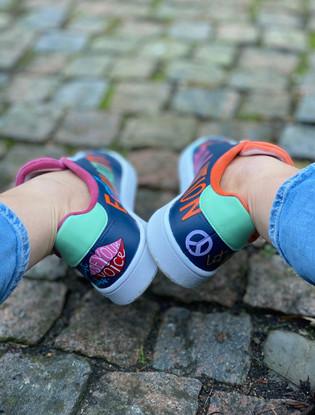 Custom sneakers - Love all häl