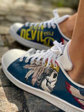 Custom sneakers - Harkey profil vänster