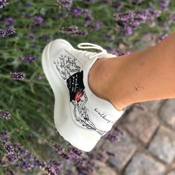 Custom sneakers Chinoiserie - Rosa fjäril