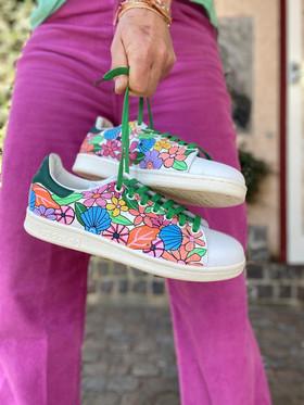 Custom sneakers - Shell & flower bonanza hålla