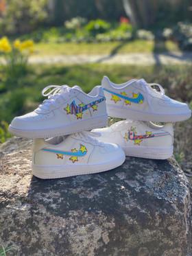 Custom sneakers - Bästisar båda staplade