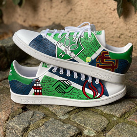 Custom sneakers - Stan(d) strong stacked green and blue