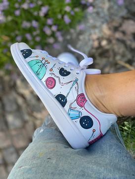 Custom sneakers - Syjuntan höger insida