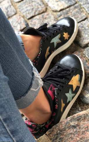 Custom sneakers Starstruck petroleum gård