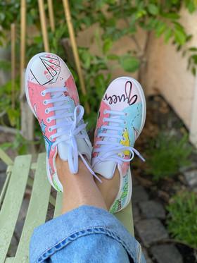 Custom sneakers - För evigt brudens tår