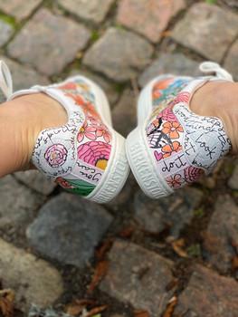 Custom sneakers - Sommaräng häl