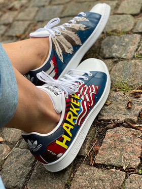 Custom sneakers - Harkey profil höger