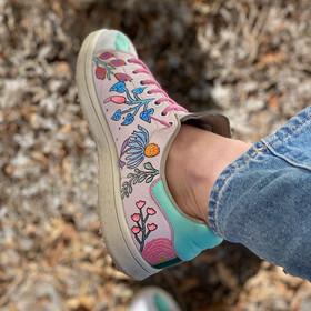 Custom sneakers - Teachers pet rosa