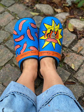 Custom clogs - Pop that sausage front