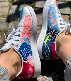 Custom sneakers Shellseeker insidor