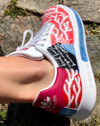 Custom sneakers Shellseeker korall