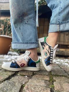 Custom sneakers - Wonder woman insidorna