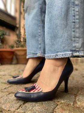 Custom shoes Tiger pumps jeans