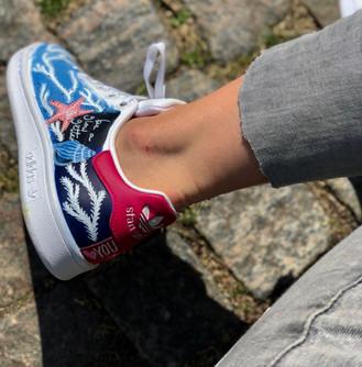 Cusom sneakers Shellseeker blå